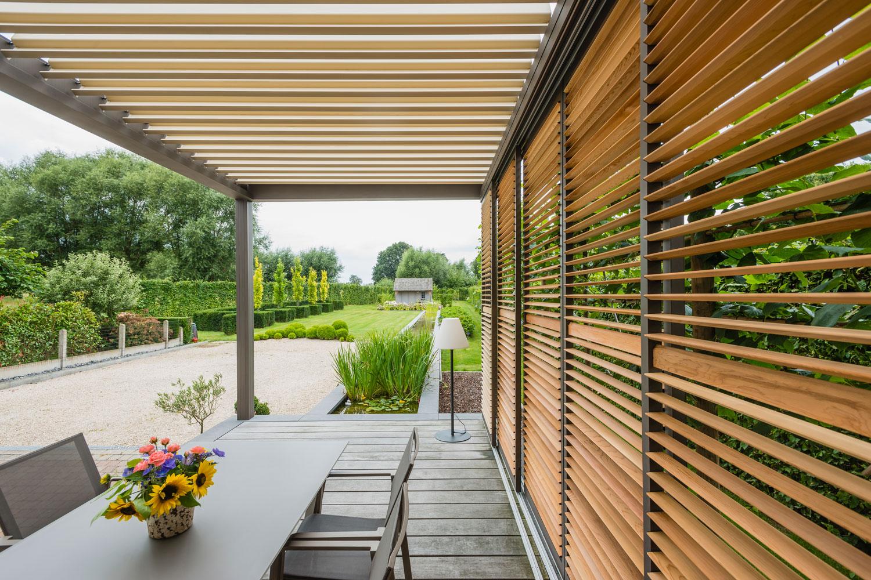Pergola Bioclimatique Retractable Avis pergola skye : un toit entièrement rétractable   pergola flex